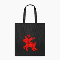 reindeer tartan Bags & backpacks