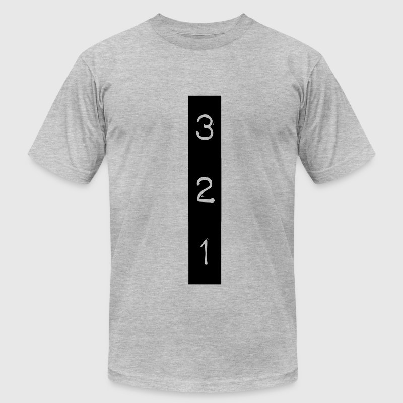 3 2 1 - Men's T-Shirt by American Apparel