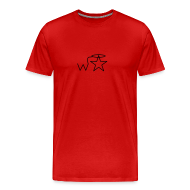 T-Shirts ~ Men's Premium T-Shirt ~ Men's Black Logo S-3X Wranglerstar