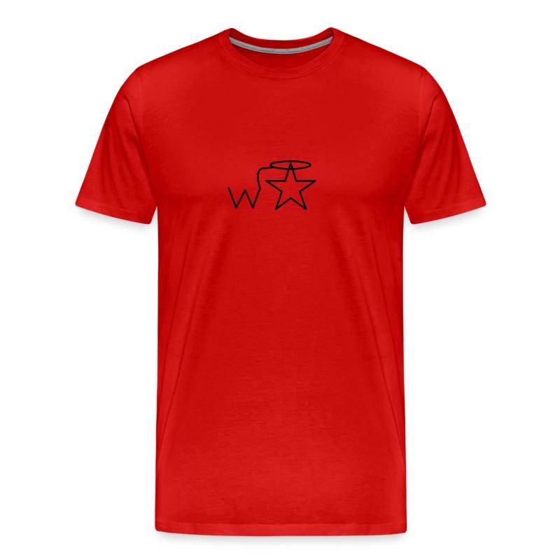 Men's Black Logo S-3X Wranglerstar - Men's Premium T-Shirt