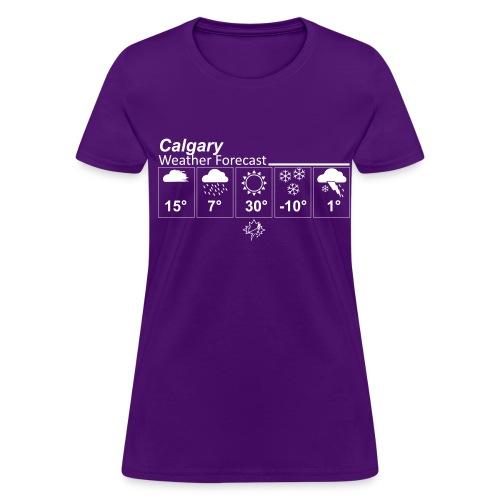 Calgary Forecast T (womens) - Women's T-Shirt