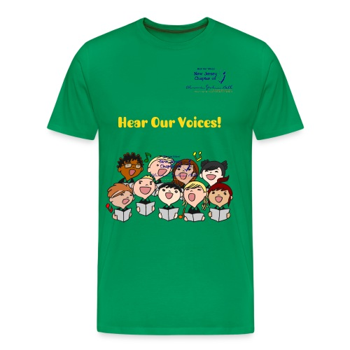 Hear Our Voices - Kids Singing - Men's Premium T-Shirt