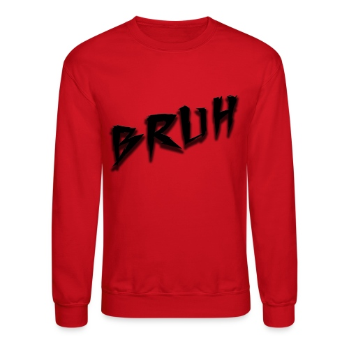 Bruh Sweatshirt Red - Crewneck Sweatshirt