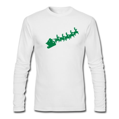Merry Christmas Men's Long Sleeve - Men's Long Sleeve T-Shirt by Next Level