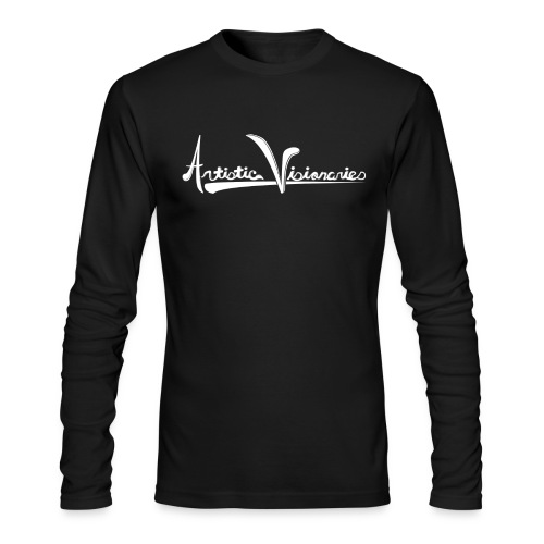 A.V. Men's Long Sleeve Fitted White Logo Design - Men's Long Sleeve T-Shirt by Next Level