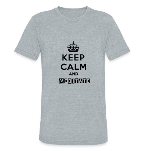 Unisex Keep Calm and Meditate - Unisex Tri-Blend T-Shirt