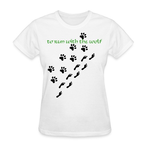CHARITY To Run with the Wolf Women's - Women's T-Shirt