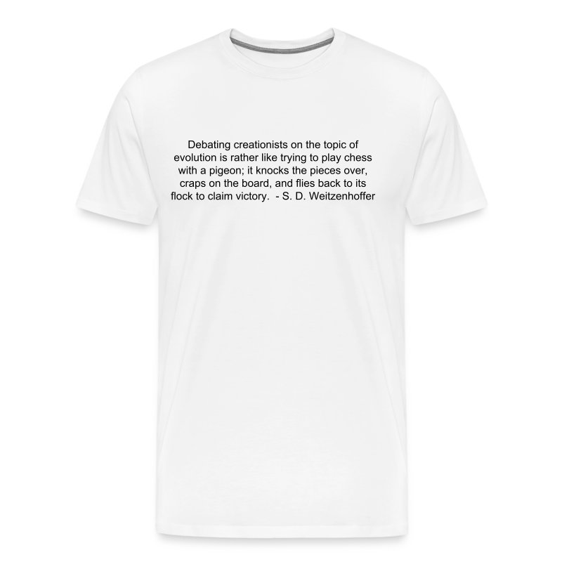 Men's Playing chess with pigeons (black lettering). - Men's Premium T-Shirt