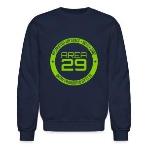 Area 29: No Fly Zone Sweatshirt (Navy/Green) - Crewneck Sweatshirt