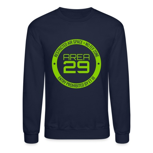 Area 29: No Fly Zone Sweatshirt (Navy/Green) - Crewneck Sweatshirt