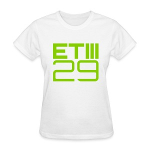 ETIII 29 Easy Fit (White/Green) - Women's T-Shirt