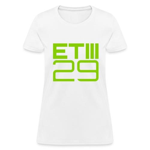 ETIII 29 Easy Fit (White/Green) - Women's T-Shirt