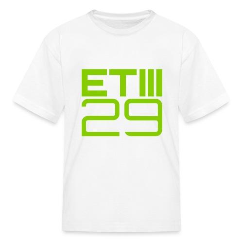ETIII 29 Kids (White/Green) - Kids' T-Shirt