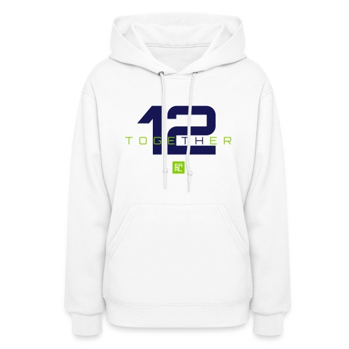 Together Hoodie (White/Navy/Green) - Women's Hoodie
