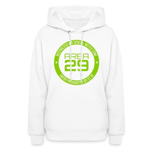 Area 29 Hoodie (White/Green) - Women's Hoodie