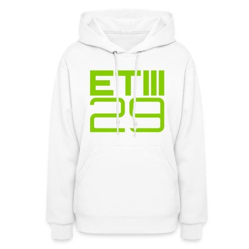 ETIII 29 Hoodie (White/Green) - Women's Hoodie