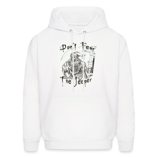 Don't Fear the Jeeper (White) - Men's Hoodie