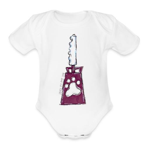 baby cowbell maroon - Organic Short Sleeve Baby Bodysuit