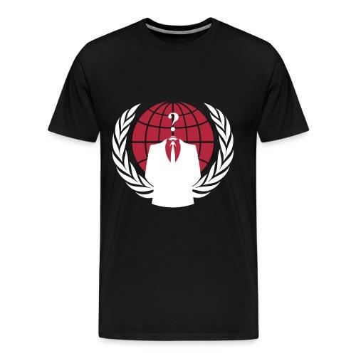Anonymous Crest/Logo T-Shirt - Men's Premium T-Shirt