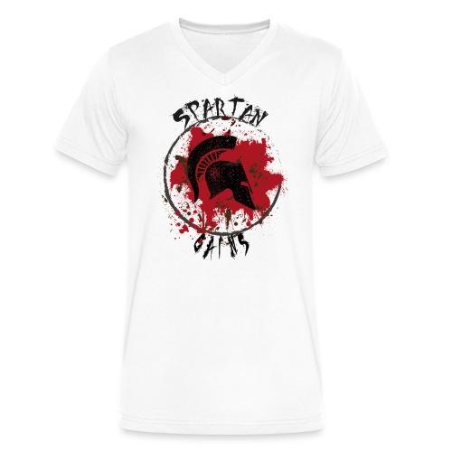 Spartan Gains - Men's V-Neck T-Shirt by Canvas