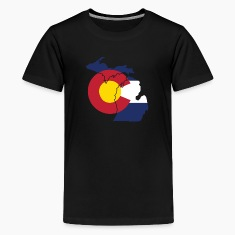 Michigan Colorado Funny Pride Flag Apparel Kids' Shirts