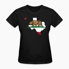 Texas California Funny Pride Flag Apparel Women's T-Shirts