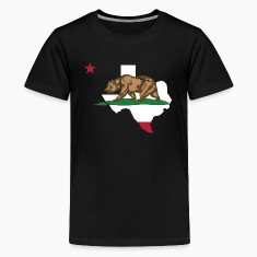 Texas California Funny Pride Flag Apparel Kids' Shirts