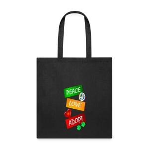 PEACE LOVE ADOPT - Tote Bag