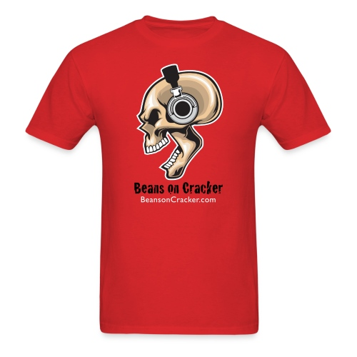 Skull with Headphones Men's T-Shirt - Men's T-Shirt