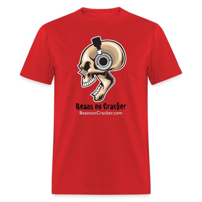Skull with Headphones Men's T-Shirt