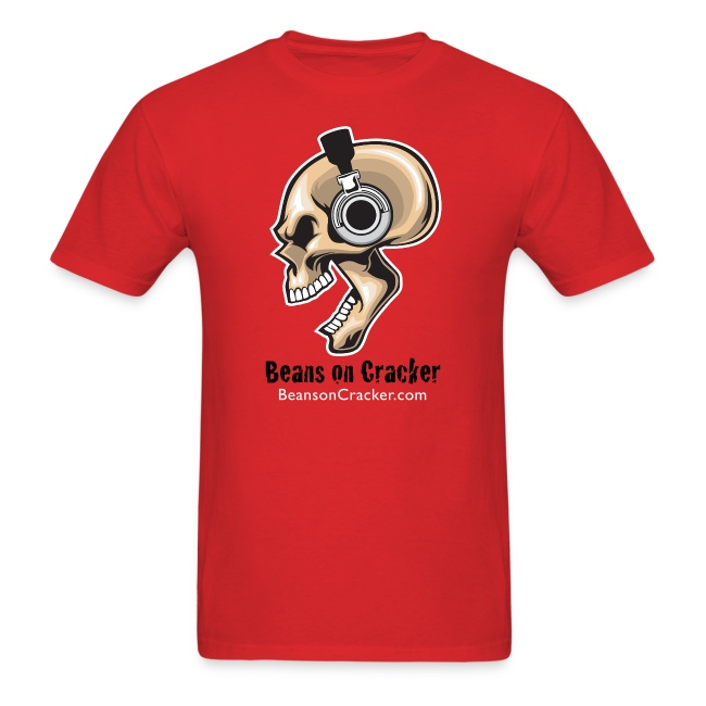 Skull with Headphones Men's T-Shirt