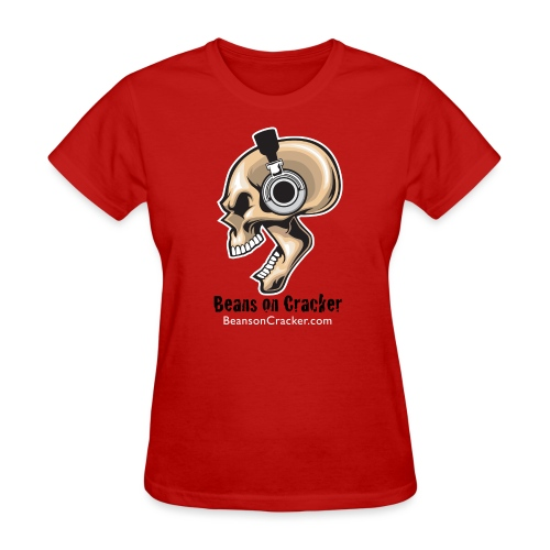 Skull with Headphones Women's T-Shirt - Women's T-Shirt