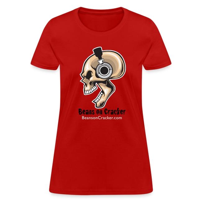 Skull with Headphones Women's T-Shirt
