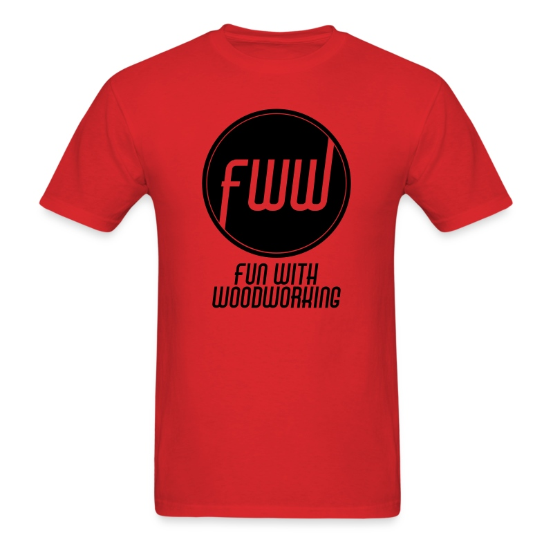 FWW Circle with logo on front - Men's T-Shirt