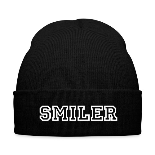 Smiler Beanie  - Knit Cap with Cuff Print