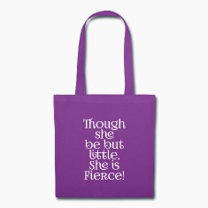 Little but Fierce Shakespeare Cool Quote Bags & backpacks