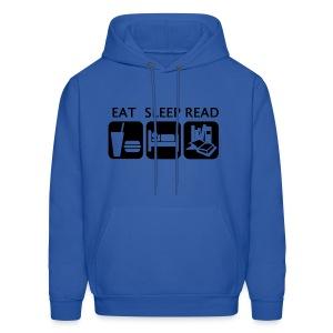 Eat Sleep Read - Men's Hoodie