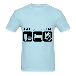 Eat Sleep Read - Men's T-Shirt