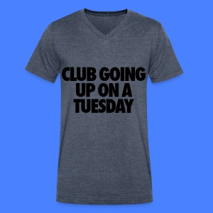 Club Going Up On A Tuesday T-Shirts - Men's V-Neck T-Shirt by Canvas