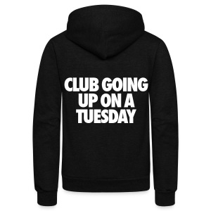 Club Going Up On A Tuesday Zip Hoodies & Jackets - Unisex Fleece Zip Hoodie by American Apparel