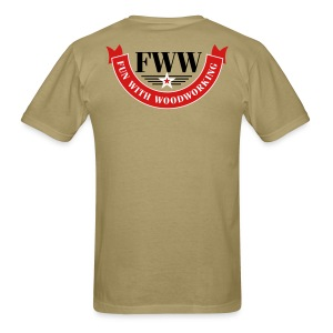 FWW Banner with 3 color logo on back - Men's T-Shirt