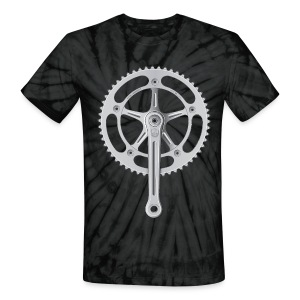 Campagnolo Super Record Strada Chainset, 1974 - Unisex Tie Dye T-Shirt