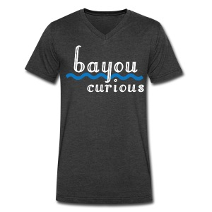 Bayou Curious - Men's V-Neck T-Shirt by Canvas