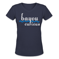 T-Shirts ~ Women's V-Neck T-Shirt ~ Bayou Curious