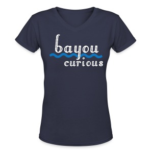 Bayou Curious - Women's V-Neck T-Shirt