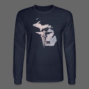 Michigan RN - Men's Long Sleeve T-Shirt