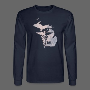 Michigan RN - Men's Long Sleeve T-Shirt