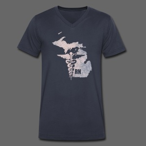 Michigan RN - Men's V-Neck T-Shirt by Canvas