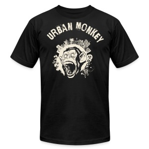 Urban Monkey (positive), DD, yellow T-Shirts - Men's T-Shirt by American Apparel