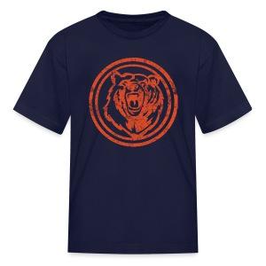 Circle Orange Bear - Kids' T-Shirt
